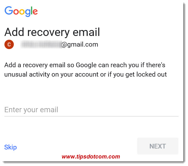 Add A Recovery Email To Gmail