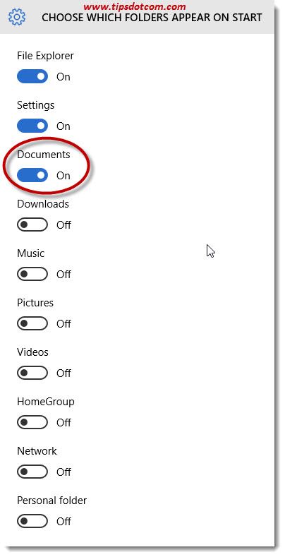 Add My Documents To The Start Menu 04