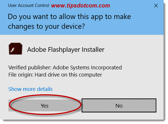 An update to Adobe Flash Player is available - 05