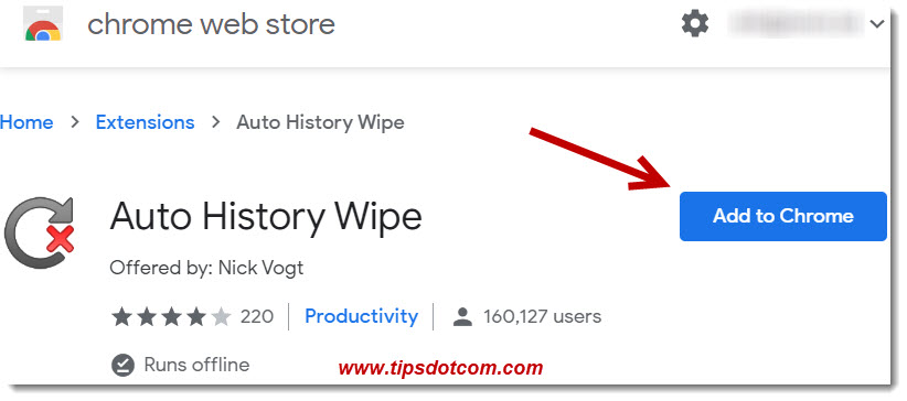 The Auto History Wipe Page
