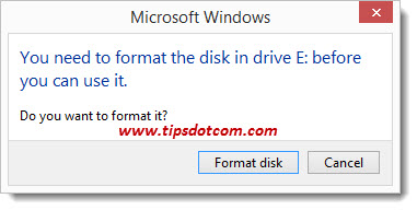 Cannot Format USB Drive - 01