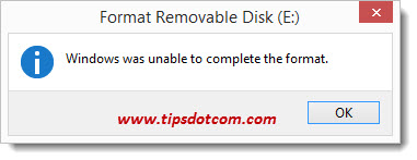 Cannot Format USB Drive - 02