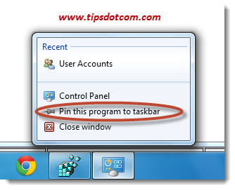 Cannot Pin Program to Taskbar - Step 04