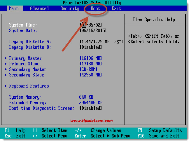 Change BIOS Boot Sequence 01