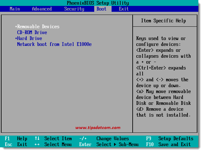 Change BIOS Boot Sequence 05
