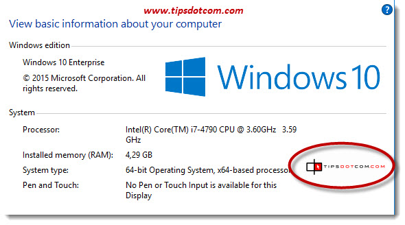 Change Windows 10 System Properties Logo 10
