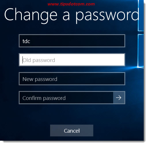 Change Your Password In Windows 10 02