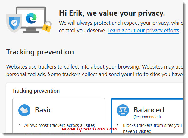Chromium Edge privacy and services