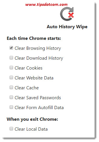 Clear Chrome History On Exit 09