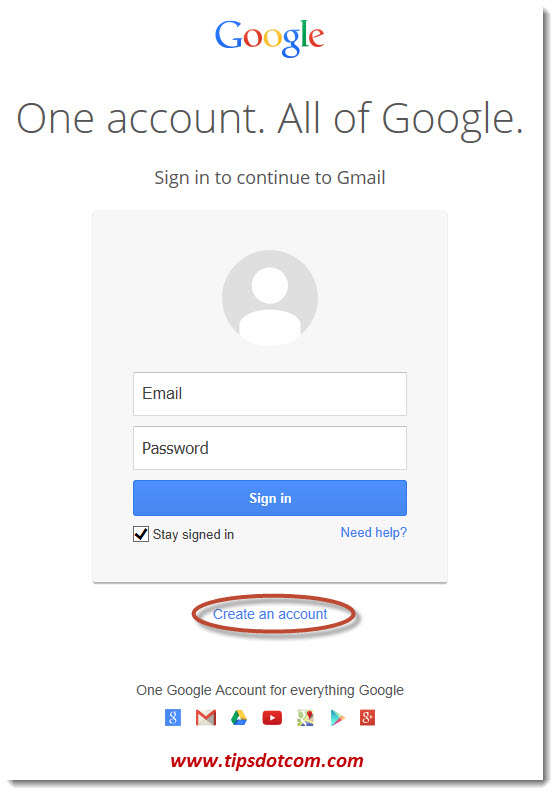 Create a Gmail Account - Step 02
