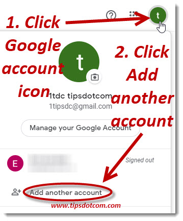 To create a Gmail account for others, add another account