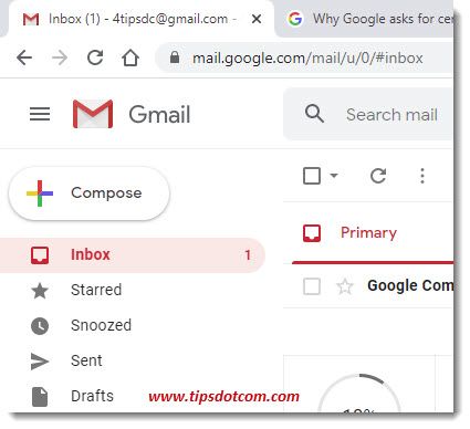 Gmail account inbox
