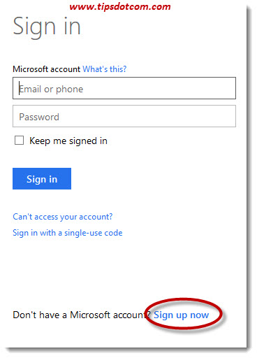 Create A Microsoft Account 01