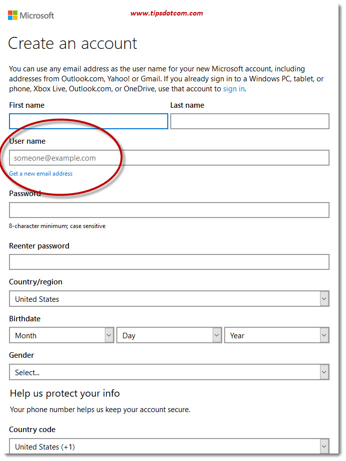 Create A Microsoft Account 02