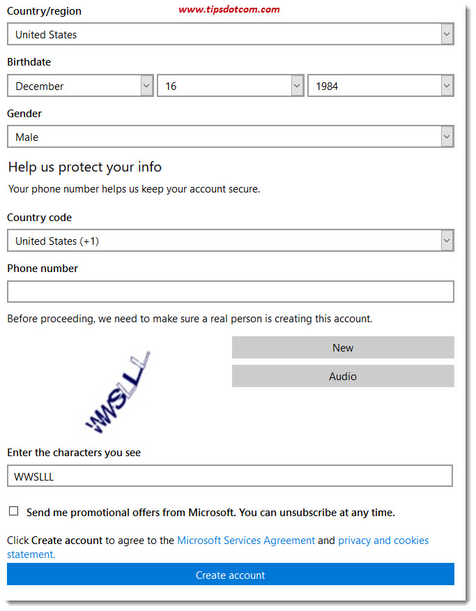 how to go to microsoft account page