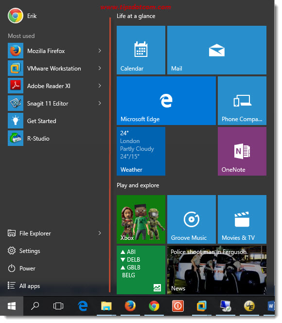 Customize Windows 10 Start Menu 02