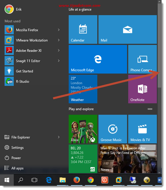 Customize Windows 10 Start Menu 03