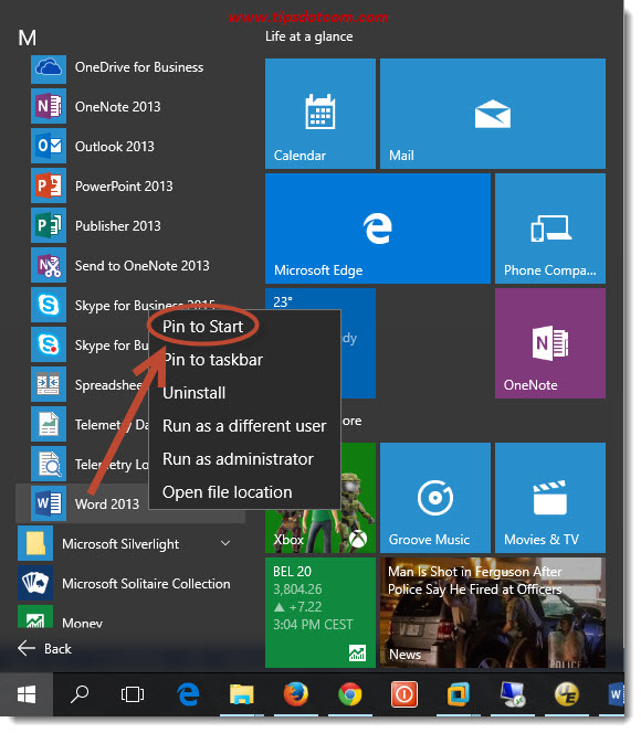 Customize Windows 10 Start Menu 07