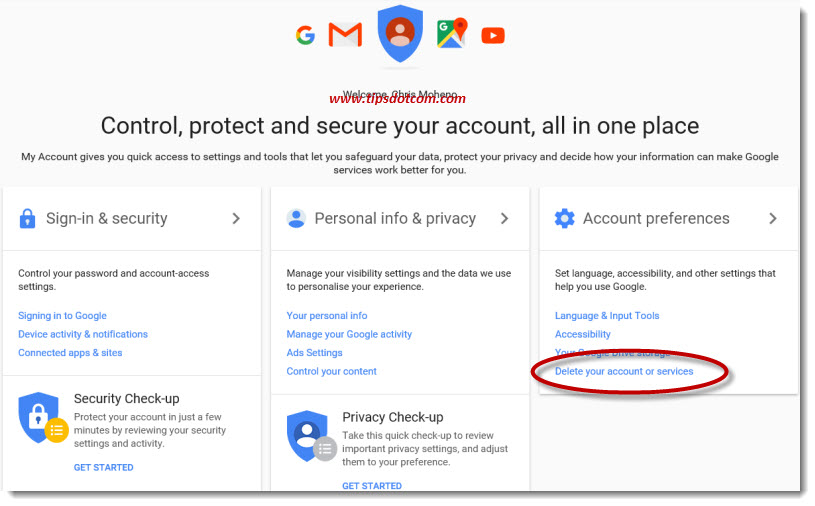Delete A Gmail Account 01