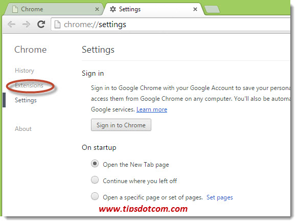 Delete Chrome History on Exit - Step 02