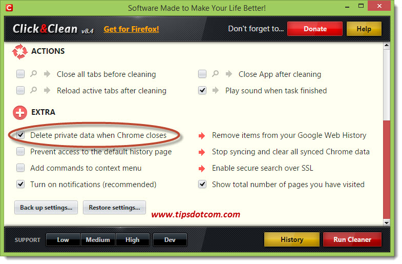 Delete Chrome History on Exit For Privacy?