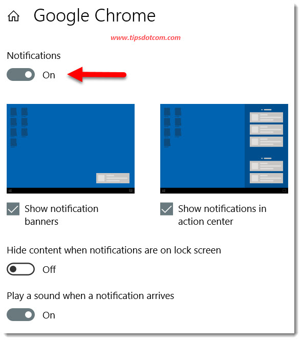 Disable Chrome notifications slider button