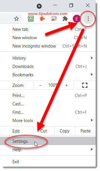 Disable Chrome notifications via settings in Chrome