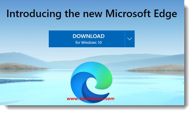 The Chromium Edge download button