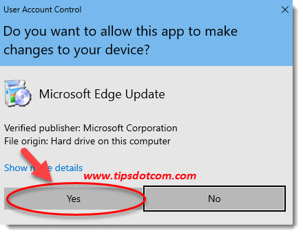 download Chromium Edge user account control