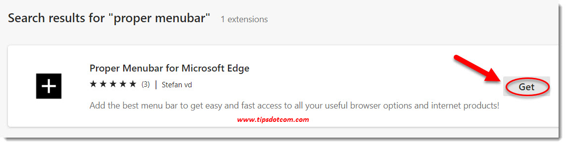 Get the Edge Chromium menu bar extension