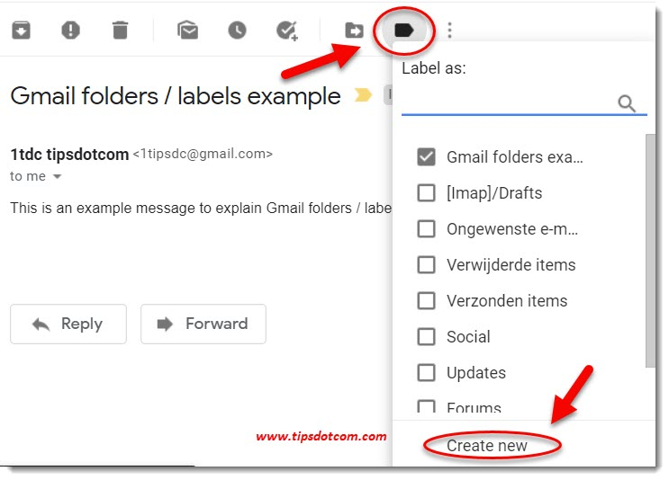 Gmail labels