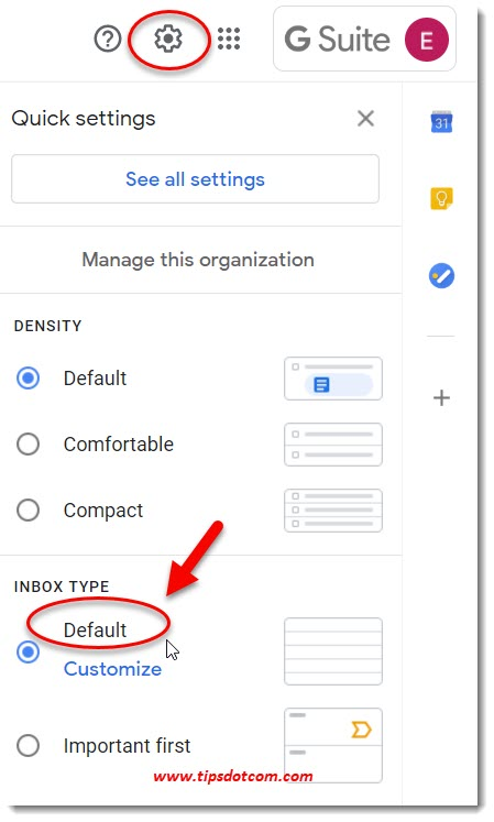 Gmail default inbox sort order