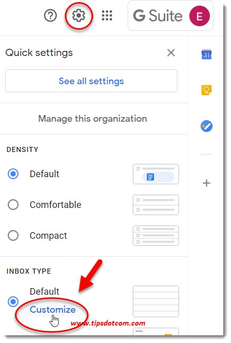 Gmail customize inbox