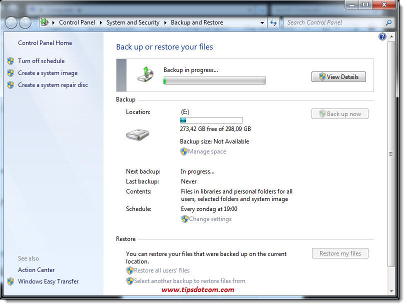 How To Backup Windows 7 - 13