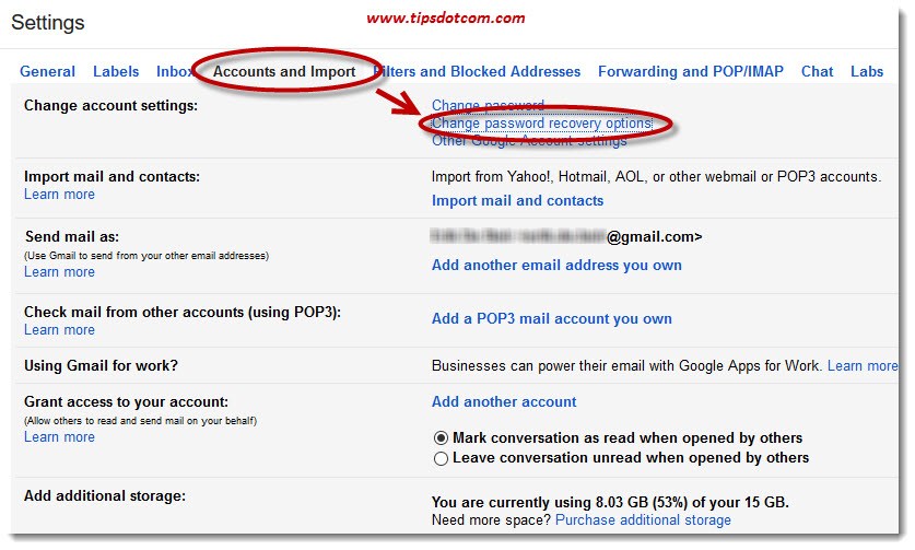 how to change gmail password if you forgot it