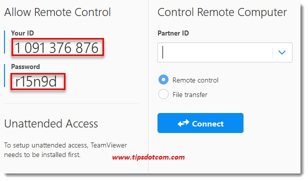How to get remote computer help with TeamViewer
