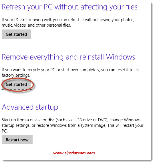 How to Reset Windows 8 -Step 04