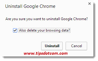 how to delete chrome completely