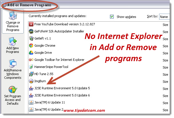 How To Uninstall Internet Explorer - 01