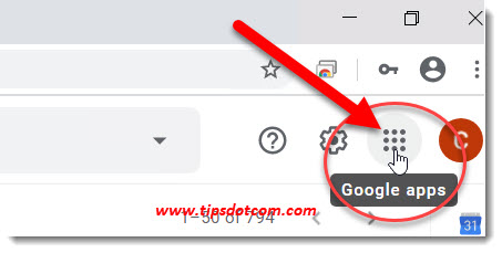 How to use Google Drive - Click the Google apps icon