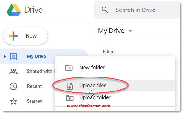 How to use Google Drive - upload files