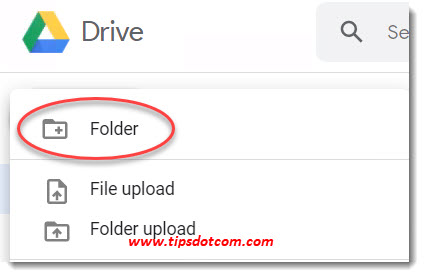How to use Google Drive - create a folder