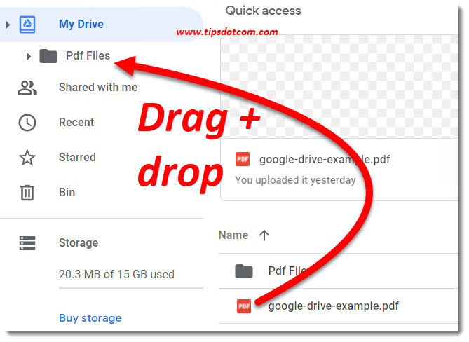 How to use Google Drive - move file to a folder