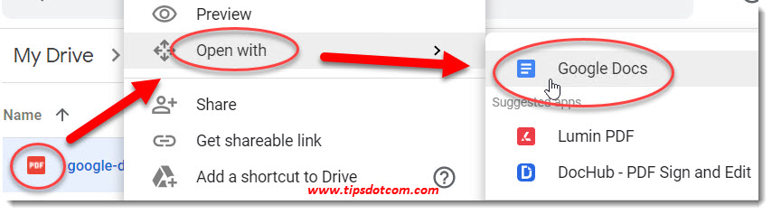 How to use Google Drive OCR with pdf files