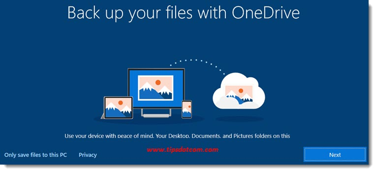 Setting up OneDrive