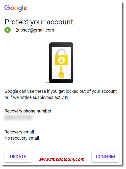 Google recovery email and phone number