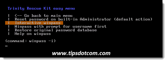 Lost Windows Password - Step 3