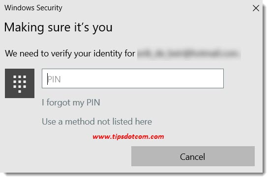 Confirming your identity