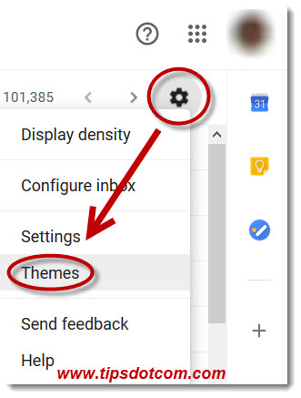 Gmail dark mode settings