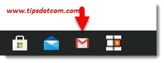 A Microsoft Edge website shortcut on your taskbar for your Gmail inbox